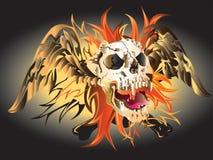 Art skull pattern tattoo. A graphic illustrator to design a rock Stock Photos