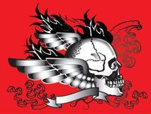 Art skull pattern tattoo. A graphic illustrator to design a rock Stock Image