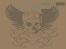 Art skull pattern tattoo Royalty Free Stock Images