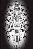Art skull pattern tattoo. A graphic illustrator to design a rock Royalty Free Stock Image