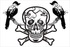 Art skull pattern tattoo Royalty Free Stock Photo
