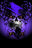 Art skull pattern tattoo. A graphic illustrator to design a rock Royalty Free Stock Photos