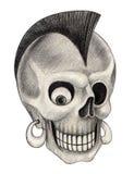 Art skull punk tattoo Stock Photo