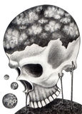 Art skull surreal. Stock Image
