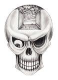Art skull surreal. Stock Images
