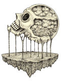 Art skull surreal. Royalty Free Stock Images