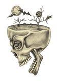 Art skull surreal. Royalty Free Stock Photo