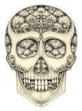Art skull surreal. Stock Images