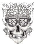 Art skull surreal. Stock Photography