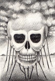 Art skull surreal. Royalty Free Stock Photography