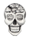 Art skull surreal. Royalty Free Stock Photo