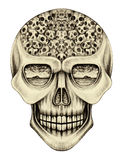 Art skull surreal. Stock Photos