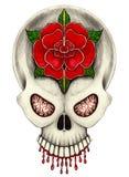 Art skull tattoo Royalty Free Stock Photos