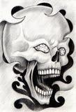Art skull tattoo. Stock Images