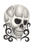Art skull tattoo. Royalty Free Stock Image