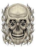 Art skull  tattoo. Stock Photography