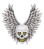Art skull wings angel tattoo. Stock Photography