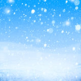 Art snow blue background. Art falling snow on the blue background Stock Photography