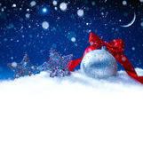 Art snow christmas decoration Royalty Free Stock Photos