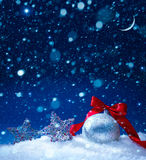 Art snow christmas decoration background Royalty Free Stock Images