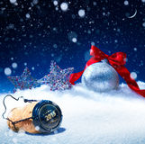 Art snow christmas or  new years eve Royalty Free Stock Photography