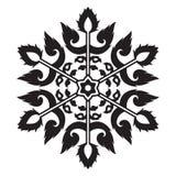 Art Snowflake Vector d'annata tailandese per il Natale ed il nuovo anno royalty illustrazione gratis