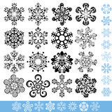 Art snowflakes set Royalty Free Stock Images