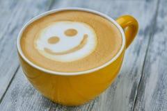 Art souriant de latte de visage photographie stock