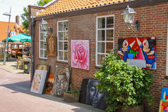 Art souvenir shop on the street Kerkstraat in Zandvoort, the Net Royalty Free Stock Photo