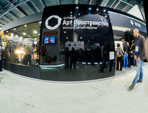 Art Space booth of Olympus company at PhotoForum Stock Images