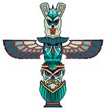 Totem animals art spirit being shamane royalty free illustration