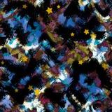 Art splash brush strokes paint abstract seamless pattern print stock illustration