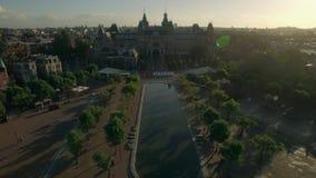 Art Square och Rijksmuseum Flyg- sikt av Amsterdam lager videofilmer