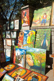 Art stall Royalty Free Stock Photography