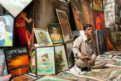 Art stall Stock Photography