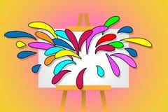 Art Stand Splash Lizenzfreies Stockbild