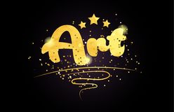 art star golden color word text logo icon royalty free stock photography