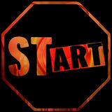 Art start sign Royalty Free Stock Images