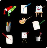 Art Stationery Objects Royalty Free Stock Photography