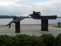 Art. Statue in Memphis Tennessee Stock Images