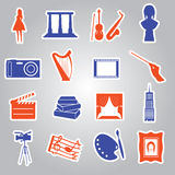 Art stickers collection eps10 Royalty Free Stock Photo