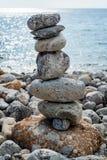 Art of stone balance Royalty Free Stock Photo