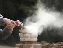 The art of stone carving Stock Photos