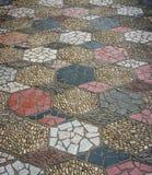 The art on stone pavement Stock Photo