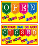Art Store Open and Closed Sign Royalty Free Stock Images