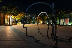 Art on the streets of Kaohsiung at night stock photo