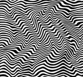 Art Stripes op in bianco e nero illustrazione vettoriale