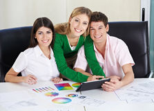 Art students learning color theory Royalty Free Stock Images