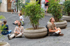 Art Students, Roma Fotografía de archivo