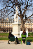 Art students in the Tuileries Gardens, Paris Stock Photo